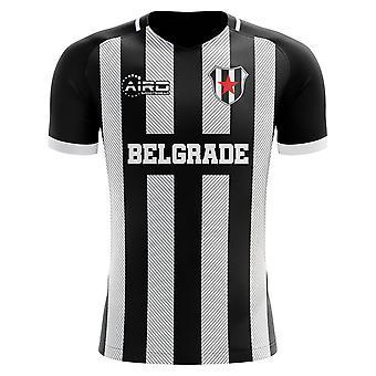 2020-2021 Partizan Belgradin Home Concept Jalkapallo paita - Aikuisten Pitkähihainen