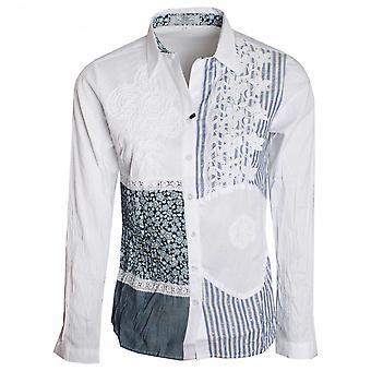 Vlt's By Valentina's Women's Lace Detail Stretch Cotton Shirt