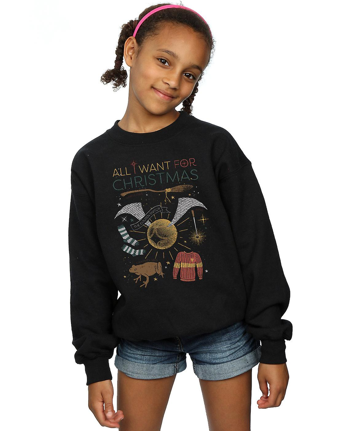 Harry Potter Girls All I Want For Christmas Sweatshirt