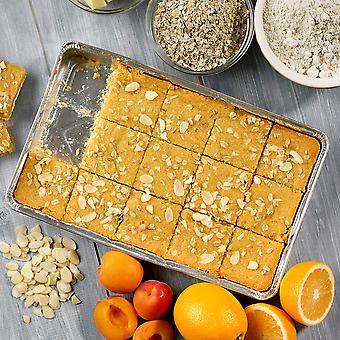 Handmade Cake Frozen Vegan Apricot, Orange & Almond Slice