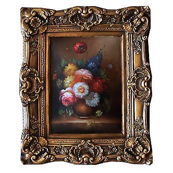 الزهور، اللوحة الزيتية مع الإطار، الأبعاد الداخلية 30x40 سم
