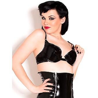Honour Women's Sexy Bra in Naughty PVC Black Fantasy Outfit Bedroom Lingerie