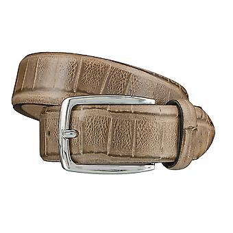 DANIEL HECHTER belts men's belts leather belts, beige 3859