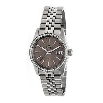 Empress Constance Automatic Bracelet Watch w/Date - Silver/Pewter