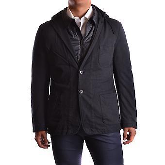 Yohji Yamamoto Ezbc106010 Men's Black Polyester Outerwear Jacket