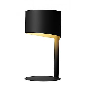 Lucide Knulle Modern Round Metal Black Table Lamp