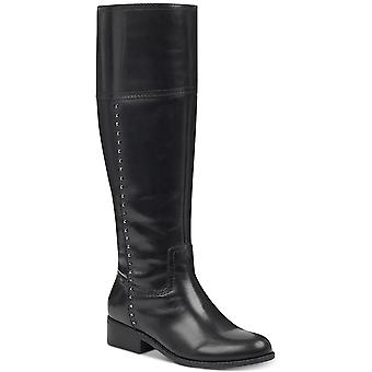 Marc Fisher Womens Galaya Leather Closed Toe Knee High Fashion Boots