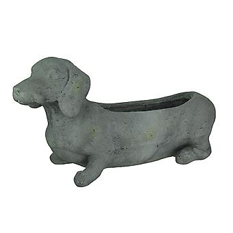 Graustein Finish Dackel Hund Indoor/Outdoor Pflanzer