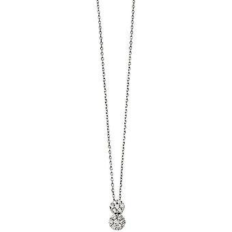 Начало двойной падение кубический цирконий ожерелье - серебро
