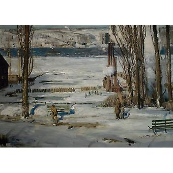 A Morning Snow, George Wesley Bellows, 60x43cm
