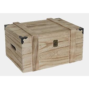 6 Bottle Wooden Wine Chest