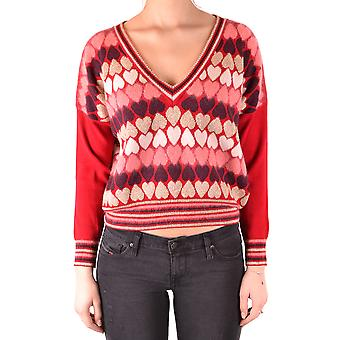 Twin-set Ezbc060198 Women's Red Viscose Sweater