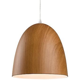 Firstlight-1 lumière plafonnier pendentif en bois brun-3442