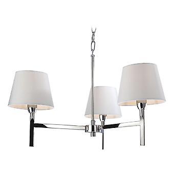 Firstlight - 3 Light Ceiling Pendant Light Polished Stainless Steel, Cream - 8218PST