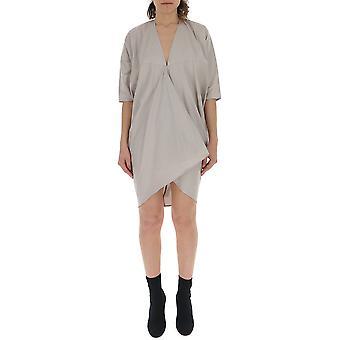 Rick Owens Rp19s6531sc61 Women's Grey Cotton Dress