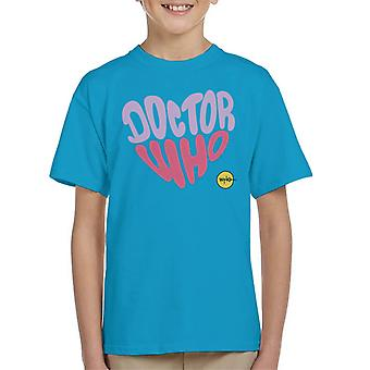 Doctor Who Purple Pink Heart Kid's T-Shirt