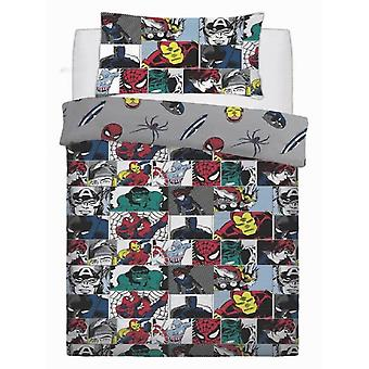 Marvel Comics Colour Pop Single Duvet Cover