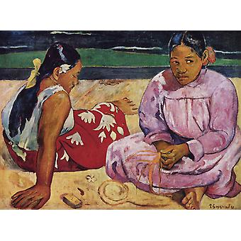 Femmes tahitiennes, Paul Gauguin, 50x37cm