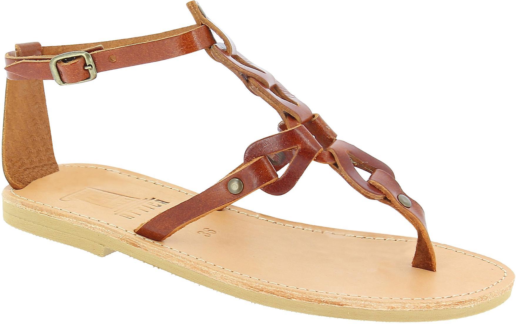 Attica Sandals 5049 Femmes-apos;s Brown Leather Flip Flops