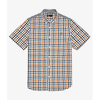 Fred Perry Three Colour Gingham Men's Short Sleeve Shirt M6399-675