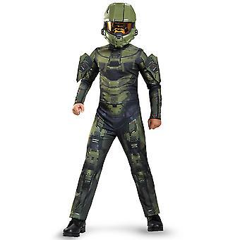 Master Chief Halo Classic Army video pelit pukeutua lisensoitu poikien puku