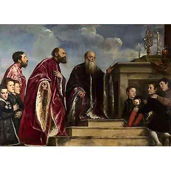 The Vendramin Family,Titian,50x36cm