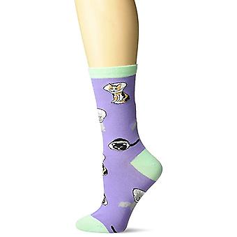 Women's Crew Socks - K Bell - Cone Cats Purple (9-11)