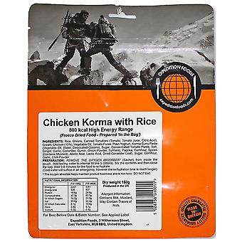 Expedition Foods Sin Color Pollo Korma con Arroz