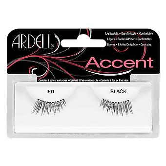 Ardell Accent 301 Black Easy To Apply Full False Eye Lashes