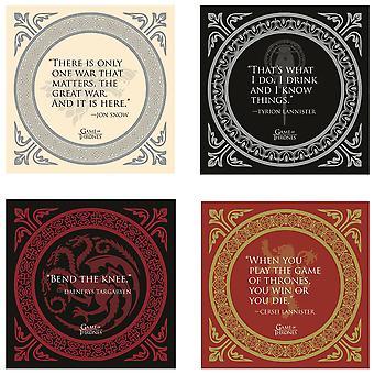 Spel van tronen citaten coaster set