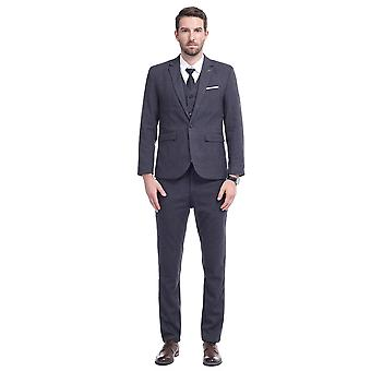 Allthemen Mens 3 Pieces Casual Slim Fit Solid Suit Blazer&Vest&Pants