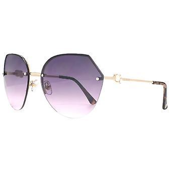 Lipsy London Hexagon Rimless Sunglasses - Light Gold