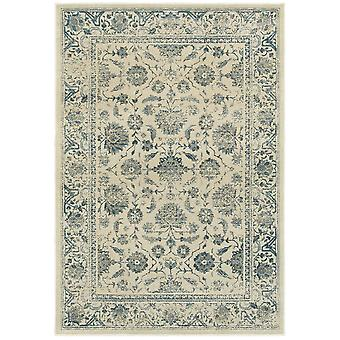 Linden 7909a ivory/ blue indoor area rug rectangle 5'3