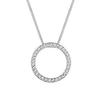 Elli dame halskjeder i sølv 925 med hvit krystall