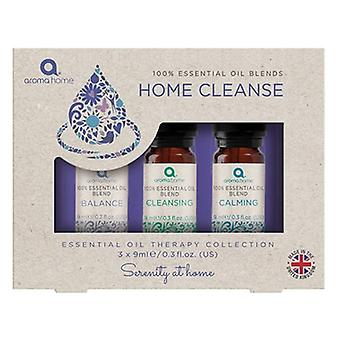 Aroma Home Cleanse 100% etherische oliemengsels 3 X 9ml