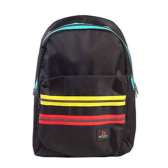Playstation Backpack Retro Stripes Classic Logo new Official Sony Black
