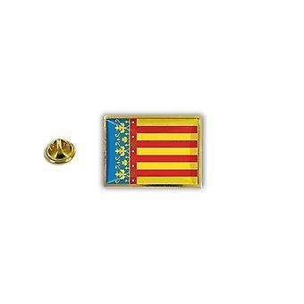 Pine PineS PIN rinta nappi PIN-apos; s metalli epoksi Pince Papillon Flag Espanja Valencia Valencia