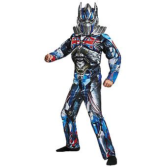 Optimus Prime Classic Muscle Transformers The Last Knight Superhero Boys Costume