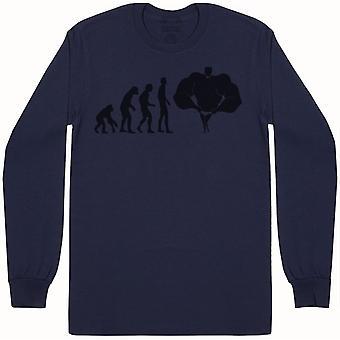 Evolution To A Bodybuilder - Mens Long Sleeve T-Shirt