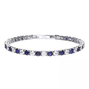 Diamonfire Silver White Blue Tennis Bracelet B5087