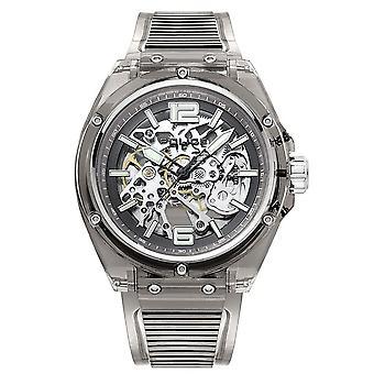 Police 15924JPB-48P Translucent Grey Resin Automatic Wristwatch