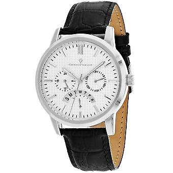 Christian Van Sant Men-apos;s Alden Silver Dial Watch - CV0323