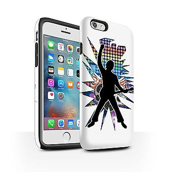 STUFF4 Gloss Tough Case voor Apple iPhone 6S +/ Plus / molen White/Rock Star vormen