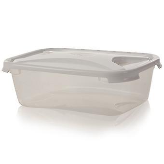 Wham Storage Caja de Alimentos Rectangulares de Plástico de 1.6 litros con tapa