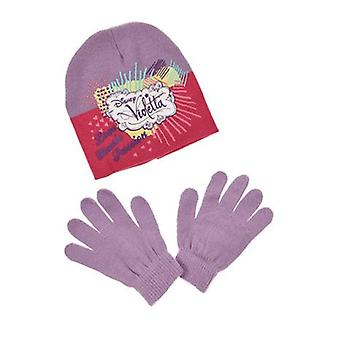 Disney Violetta Girls 2 kus sada Beanie Hat & rukavice