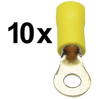 Sinuslive RKS-4,0 P10 Ring terminal Cross section (max.)=4 mm² Partially insulated Yellow 10 pc(s)
