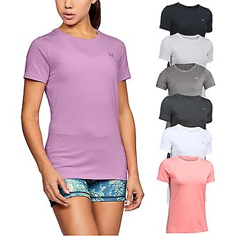 Under Armour Kvinders UA HG Rustning SS T Shirt Fitness Gym Kort ærme