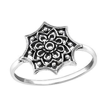 Цветок - 925 стерлингового серебра Обычная кольцо - W25133x