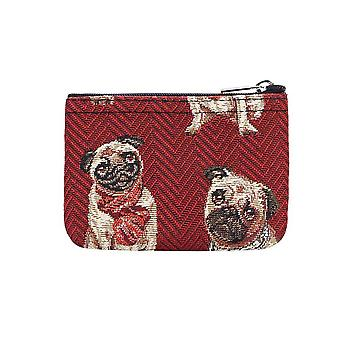 Pug zip coin purse by signare tapestry / zipc-pug