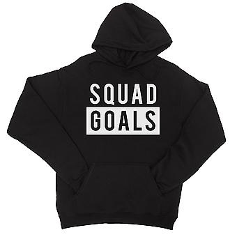 365 Printing Squad Goals Womens Black Hoodie Funny Gym Quote Pullover Gifts
